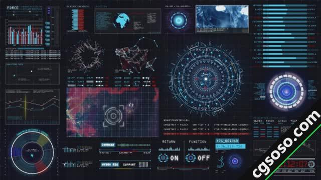 69 影视素材 69 ae模板 科幻界面动画元素  cgsoso最新最全ae模板